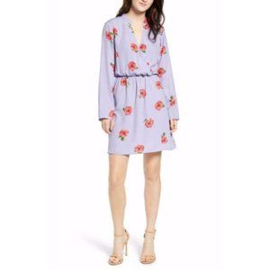 All in Favor lily Floral Surplice Dress